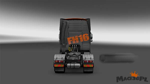 Volvo FH 2009 Black Orange Skin