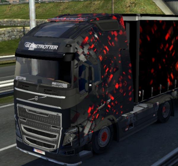 Volvo FH 2012 Neon Cude Skin