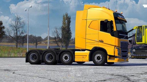 Volvo fh16 2012 8×4 taglift