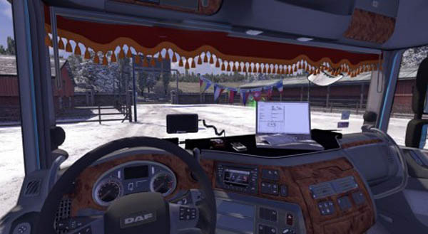 DAF XF 116 Interior with addons