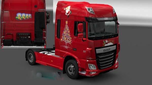 DAF XF Euro 6 Christmas Skin