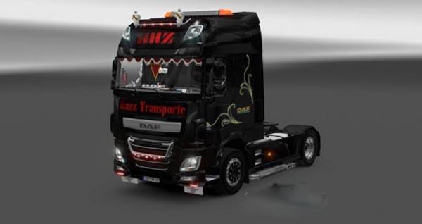 DAF XF Euro 6 Hazz Transports Skin
