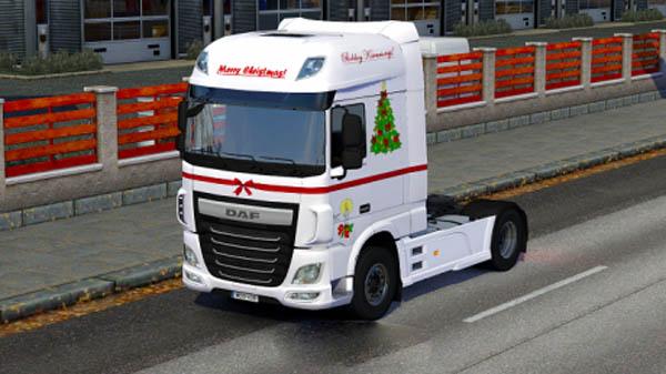 DAF XF Euro 6 Merry Christmas Skin