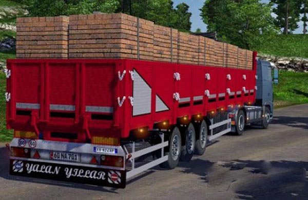 Flatbed trailer brick