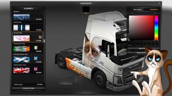 Grumpy Cat Skin for Volvo FH