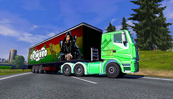 Iveco Stralis 420 Paintjob and Weed Trailer