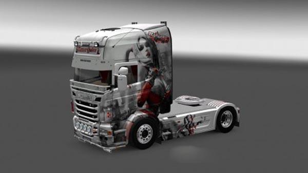 Scania Harley Quinn White Skin