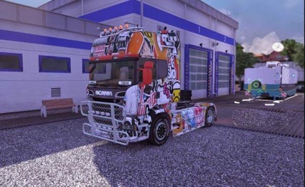 Scania Sticker Bomb