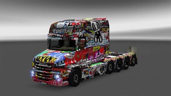 Scania T Sticker Bomb Skin