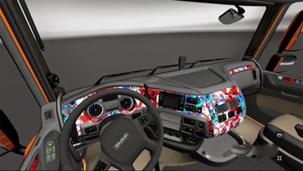 Sticerbomb DAF E6 interior