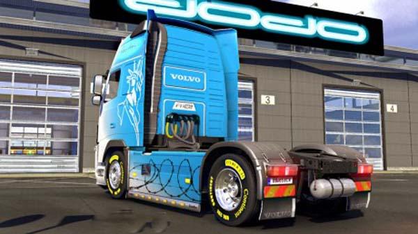 Volvo FH 2009 B&W Freedom Skin