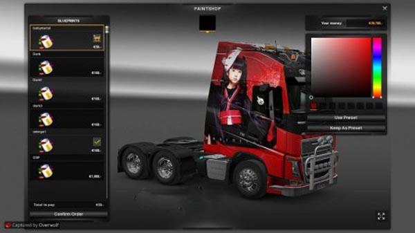 Babymetal truck skin