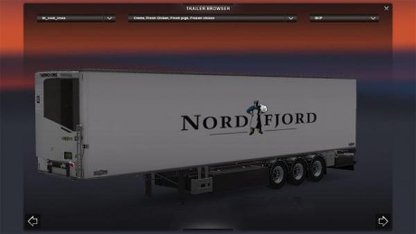 Chereau trailer Nord Fjord