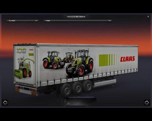 Claas trailer