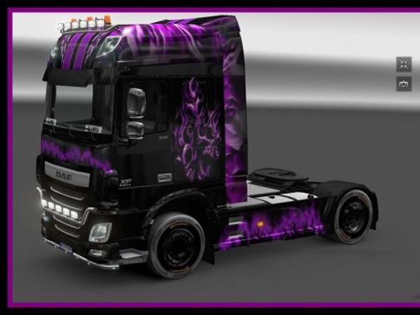 DAF XF Euro 6 666 Purple Skin