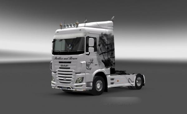 DAF XF Euro 6 Ship Skin with Tuning Mod