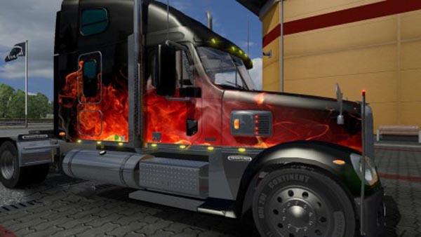 Freightliner Coronado Original Fire Skin