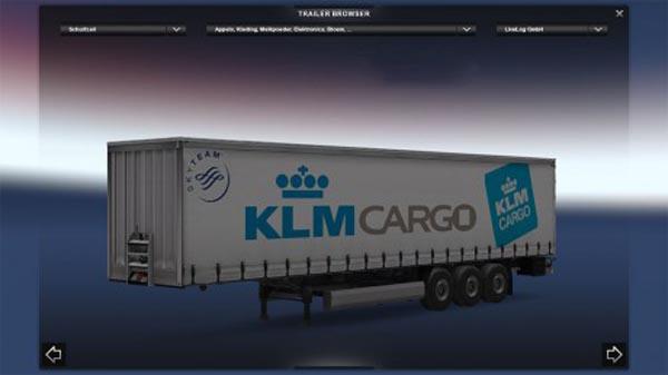 KLM Cargo trailer