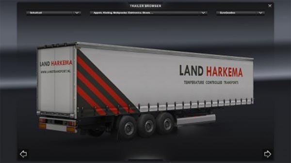Land Harkema white trailer