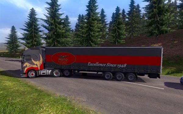 Moto Transport Trailer Skin