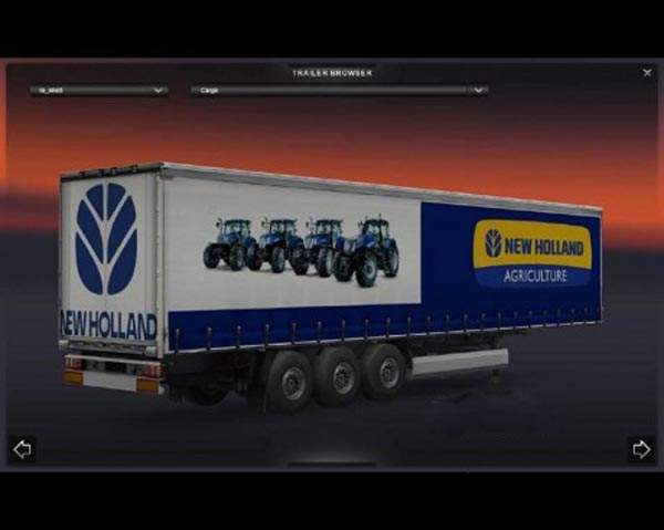 New Holland trailer