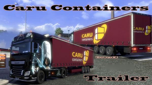 Purple Caru Containers Trailer