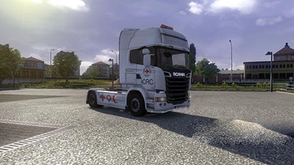 Red cross skin for Scania Streamline
