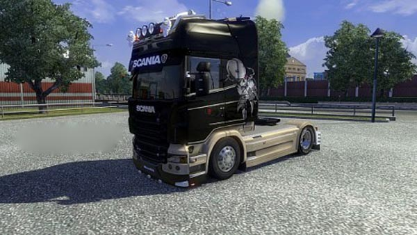 Scania Black Beige Skin