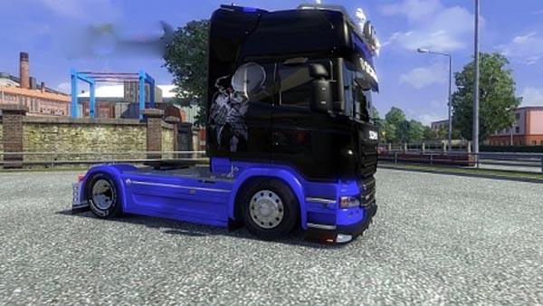 Scania Black Blue Skin