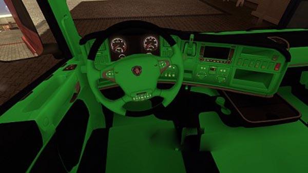 Scania Green Black Interior