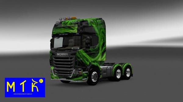 Scania Green Waves Skin