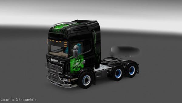 Scania Streamline Green Dracon Skin
