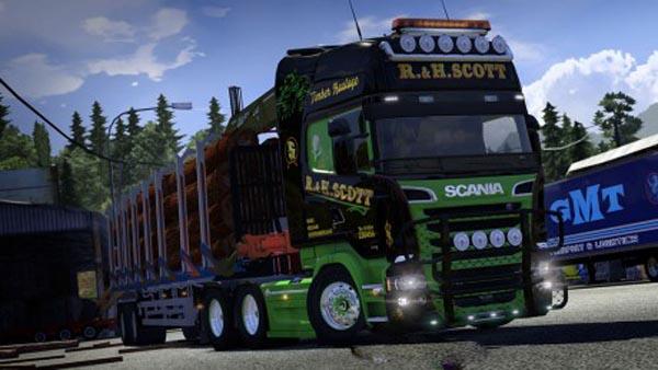 Scania Streamline R.&H.Scott Timber Skin