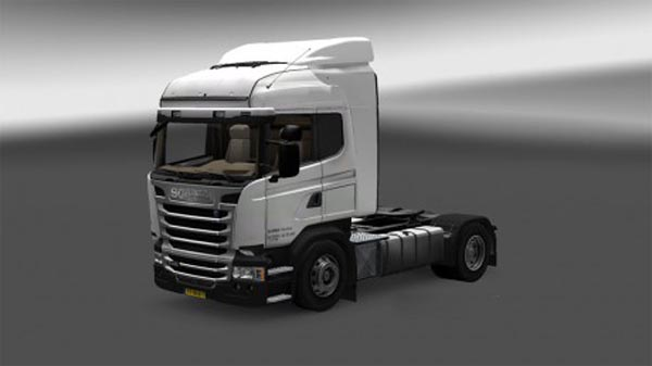 Scania rental truck + trailer skin