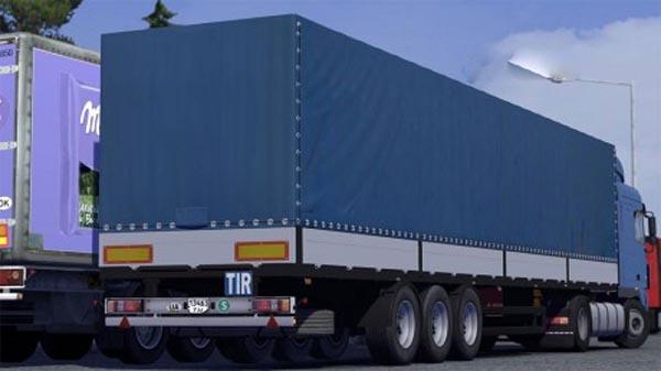 Schmitz trailer (Blue)