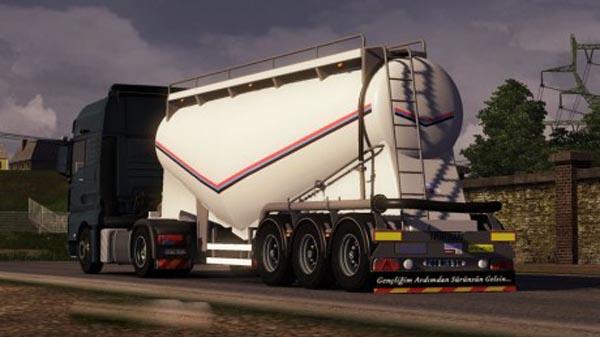 Standalone trailer cement