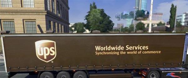 UPS trailer