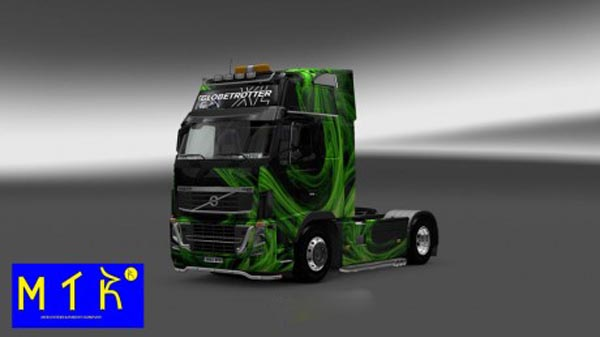 Volvo FH 2009 Green Waves Skin