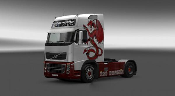 Volvo FH 2009 Red Dragon Skin