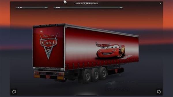 Cars mcqueen trailer