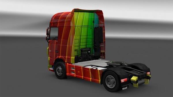 Daf XF E6 skin arco iris