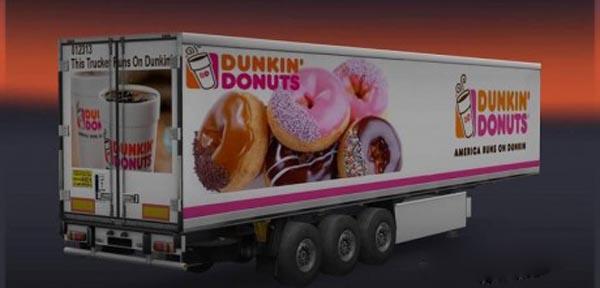 Dunkin Donuts Trailer Skin