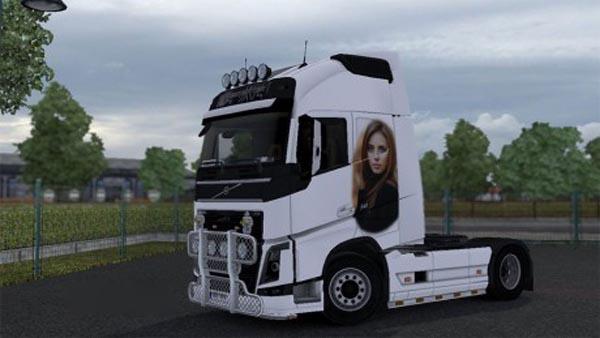 Girl skin for Volvo