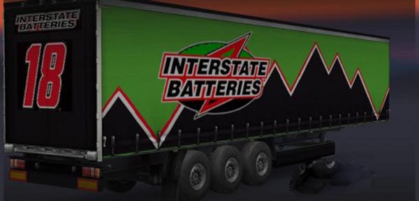 Interstate Batteries Trailer Skin
