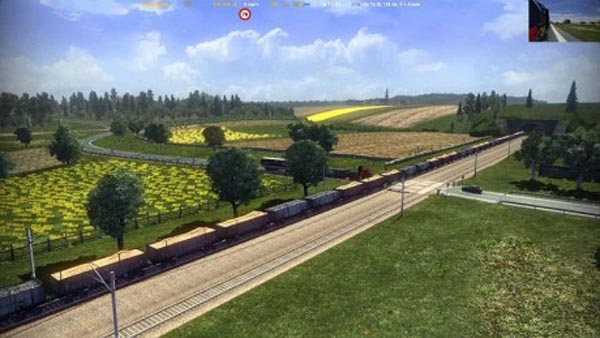 Long train for standart map