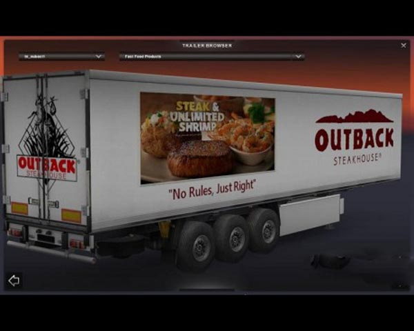 Outback Steakhouse trailer