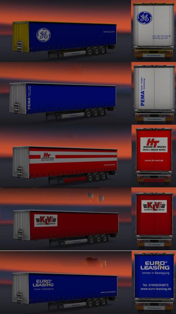 Rental Trailers Skin Pack