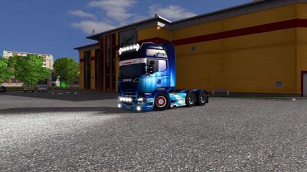 Scania R Blue Skin
