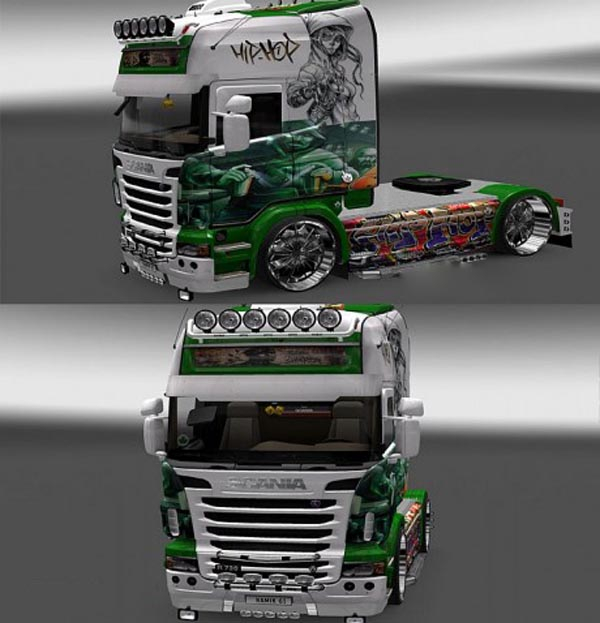 Scania R Graffiti Hip Hop skins 1.16
