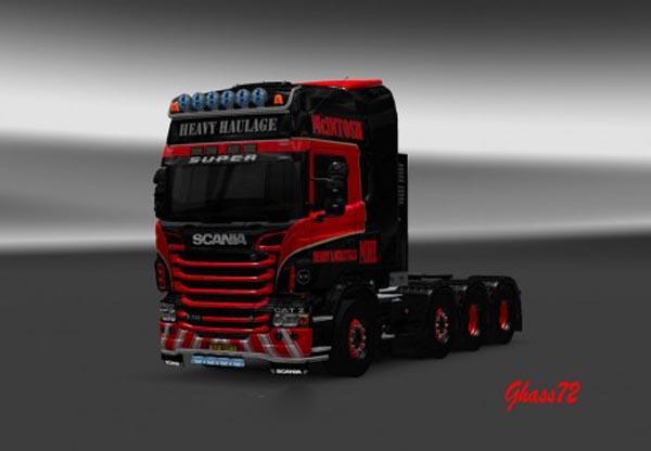 Scania R McIntosh Heavy Haulage Skin